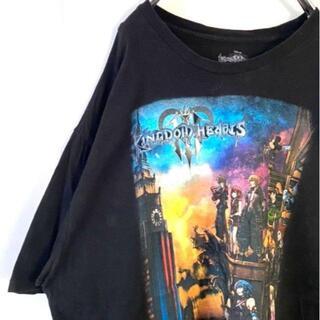 ディズニー(Disney)のDisney キングダムハーツ Tシャツ ブラック 黒 2XL 古着(Tシャツ/カットソー(半袖/袖なし))