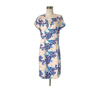 Ron Herman - 新品タグ付き NYブランド ピンクとブルーの刺繍エンブロイダリーワンピース