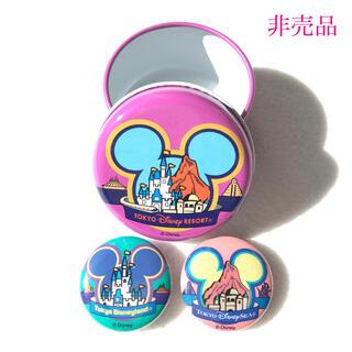 ディズニー(Disney)の【非売品】ディズニーリゾート 缶バッジセット(ノベルティグッズ)