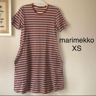 marimekko - marimekko マリメッコ  ボーダー ワンピース XSサイズ