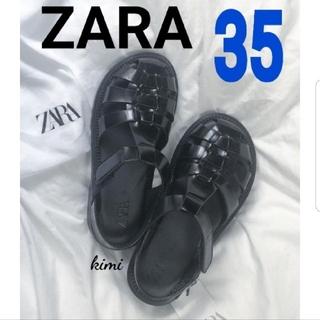 ZARA - ZARA (35) フラットケージサンダル グルカサンダル