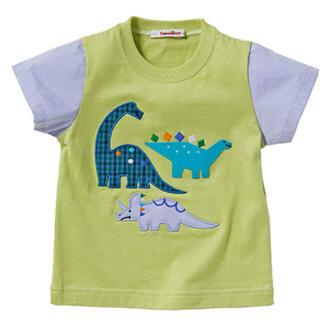 familiar - ファミリア きょうりゅう 恐竜 Tシャツ 半袖 100