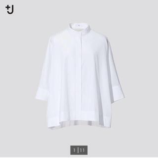 UNIQLO - ★今期新品 ユニクロ +J スーピマコットンドルマンスリーブシャツ ホワイトM