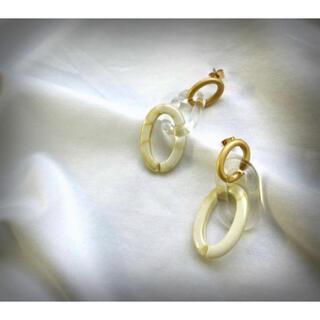 BEAUTY&YOUTH UNITED ARROWS - marble clear hoop pierce earring ヴィンテージ