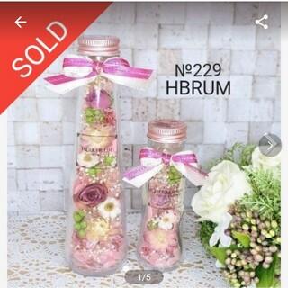 №229 ハーバリウム ナチュラルピンクローズset HBRUM(ドライフラワー)
