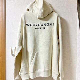 ウーヨンミ(WOO YOUNG MI)の新品 wooyoungmi ロゴ オーバーサイズ パーカー 46(パーカー)
