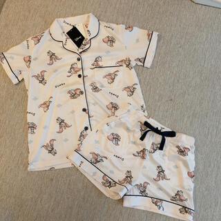 ディズニー(Disney)のダンボ  パジャマ オフホワイト 水色 夏 半袖 ルームウェア(パジャマ)