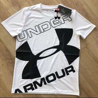 UNDER ARMOUR - ☆新品☆アンダーアーマー ジャニアビックロゴTシャツ ホワイト 160サイズ