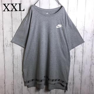 NIKE - 海外モデル ナイキ ロゴプリント Tシャツ XXL 灰 ビッグシルエット