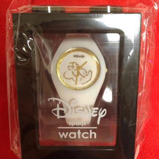 ディズニー(Disney)の【新品】ディズニー スポーツウォッチ 時計 ミニーマウス(キャラクターグッズ)