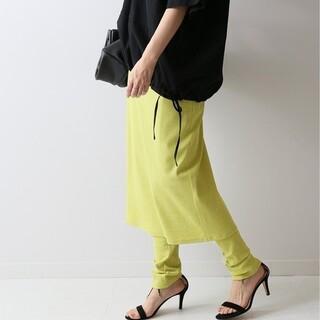 フレームワーク(FRAMeWORK)の新品タグ フレームワーク レギンス付きタイトスカート グリーン(レギンス/スパッツ)