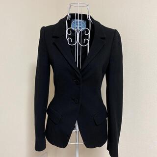 プラダ(PRADA)のプラダ テーラードジャケット きれいめ 黒 ブラック(テーラードジャケット)