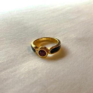 Grimoire - ୨୧ Vintage rétro Modern Red Crystal Ring