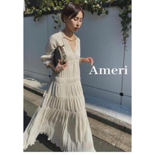 Ameri VINTAGE - ameri シャーリングプリーツドレス