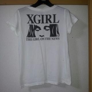 エックスガール(X-girl)のXgirl Tシャツ 白(Tシャツ(半袖/袖なし))