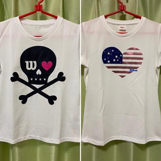 ウィルソン(wilson)のWilson バドミントン レディースTシャツ 2枚セット【レディースMサイズ】(バドミントン)