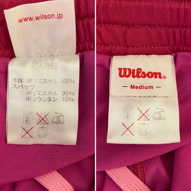 wilson(ウィルソン)のWilson  レディースゲームシャツ・スコートセット【レディースMサイズ】 スポーツ/アウトドアのスポーツ/アウトドア その他(バドミントン)の商品写真