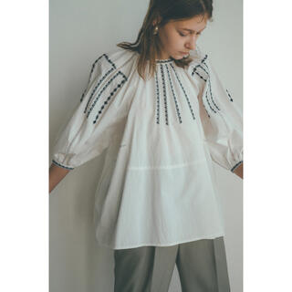 SMOCK EMBROIDERY PUFF TOPS