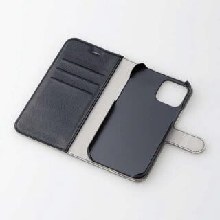 ELECOM - iPhone 12 iPhone 12 Pro レザーケース 手帳型 ブラック
