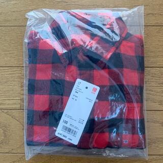 ユニクロ(UNIQLO)のユニクロ フランネルチェックシャツ  100(その他)