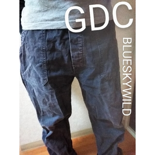 GDC - GDC ZOE WILD VINTAGE BLACKジーディーシー ワイドパンツ