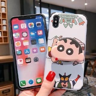 リング付き しんちゃん iPhoneケース7 iPhoneカバー