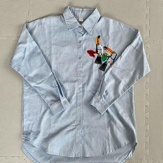 スタイルナンダ(STYLENANDA)のスタイルナンダ シャンブレー 刺繍シャツ 破れあり(シャツ/ブラウス(長袖/七分))