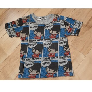 コンベックス(CONVEX)の美品CONVEXコンベックス総柄Tシャツ 140cm(Tシャツ/カットソー)