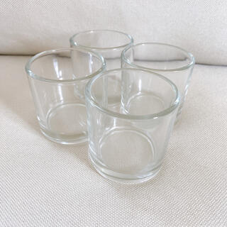 ガラス瓶 空瓶 ガラス容器*4個セット(各種パーツ)