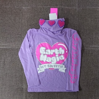 アースマジック(EARTHMAGIC)の140cm アースマジックハートハイネックロンT(Tシャツ/カットソー)