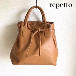 レペット(repetto)の極美品 レペット ショルダーバッグ  ブラウン(ショルダーバッグ)
