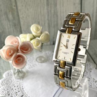 ジバンシィ(GIVENCHY)の【動作OK】GIVENCHY ジバンシー 腕時計 コンビ スクエア(腕時計)