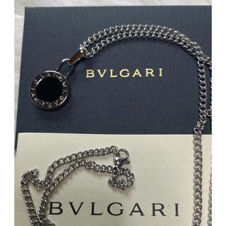 ブルガリ(BVLGARI)の【新品正規品】BVLGARI ペンダント チャーム +チェーン 革紐 ネックレス(ネックレス)