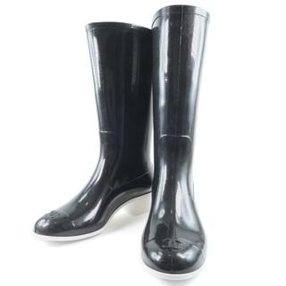 シャネル(CHANEL)のシャネル ココマーク 07A G25612X01618 ビニール レ(レインブーツ/長靴)
