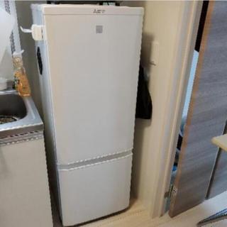 ミツビシデンキ(三菱電機)の三菱 MITSUBISHI 冷蔵庫 一人暮らし 中古 2018年製 2ドア(冷蔵庫)