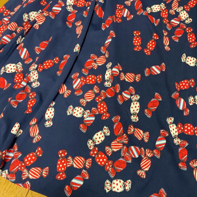 DOLLY GIRL BY ANNA SUI(ドーリーガールバイアナスイ)のドーリーガールバイアナスイ キャンディ柄ワンピース レディースのワンピース(ひざ丈ワンピース)の商品写真