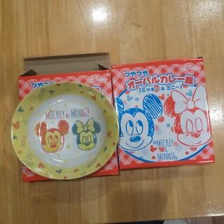 ディズニー(Disney)のつやつやオーバルカレー皿 ミッキー&ミニー 2枚セット(プレート/茶碗)