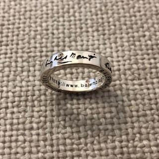 バレンシアガ(Balenciaga)のバレンシアガ URLリング シルバー 男女兼用(リング(指輪))