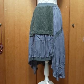 アンティカ(antiqua)のantiqua💓裾、変形スカートr(ひざ丈スカート)