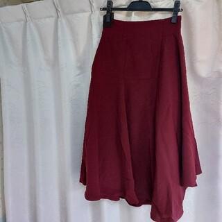 ラグナムーン(LagunaMoon)のLAGUNAMOON ハイウエストアシンメトリースカート(ひざ丈スカート)