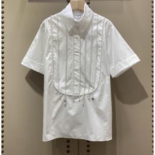 シャネル(CHANEL)のシャネル コットン シャツ  ホワイト(シャツ/ブラウス(長袖/七分))