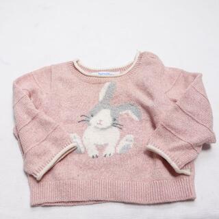 ファミリア(familiar)のFAMILIAR セーター キッズ ピンク/ウサギ柄(ニット/セーター)