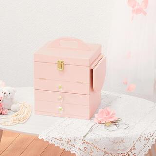 コスメボックス ピンク MUD-6835Pl(メイクボックス)