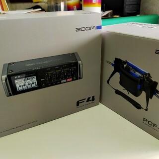 ズーム(Zoom)のZOOM F4フィールドレコーダー+専用バック(その他)