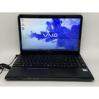 バイオ(VAIO)のVAIO Windows10 SONY ブラックノートパソコン オフィス(ノートPC)