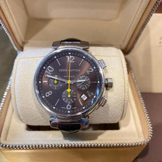 ルイヴィトン(LOUIS VUITTON)のルイヴィトン タンブール クロノグラフ 自動巻き  メンズ Q11211 デイト(腕時計(アナログ))