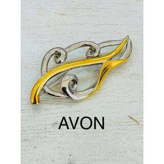 エイボン(AVON)のAVON エイボン ゴールド×シルバーカラー ブローチ(ブローチ/コサージュ)