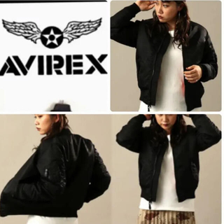 アヴィレックス(AVIREX)の《未使用》AVIREX MA-1 ブルゾン ブラック×オレンジ リバーシブル(ミリタリージャケット)
