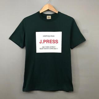 ジェイプレス(J.PRESS)の【良品】ジェープレス J.PRESS Tシャツ 半袖 ボックスロゴ オンワード(Tシャツ/カットソー(半袖/袖なし))