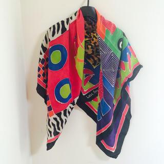 アッシュペーフランス(H.P.FRANCE)のおしゃれ柄大判スカーフ❤️東京ヴィンテージショップにて購入 カラフル(バンダナ/スカーフ)
